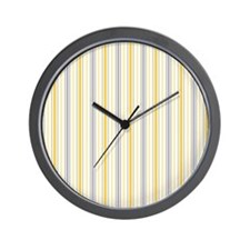 Amber Stripe Duvet King Wall Clock