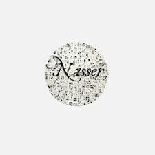 Nasser, Matrix, Abstract Art Mini Button