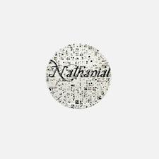 Nathanial, Matrix, Abstract Art Mini Button