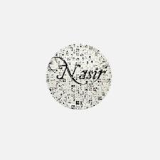 Nasir, Matrix, Abstract Art Mini Button