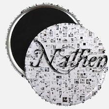 Nathen, Matrix, Abstract Art Magnet