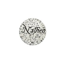 Nathen, Matrix, Abstract Art Mini Button