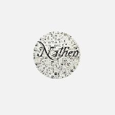 Nathen, Matrix, Abstract Art Mini Button