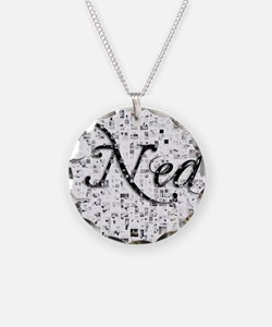 Ned, Matrix, Abstract Art Necklace