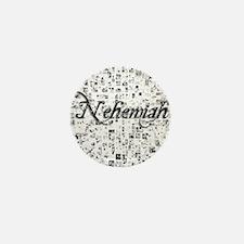 Nehemiah, Matrix, Abstract Art Mini Button