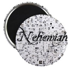 Nehemiah, Matrix, Abstract Art Magnet