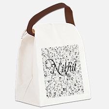 Nikhil, Matrix, Abstract Art Canvas Lunch Bag