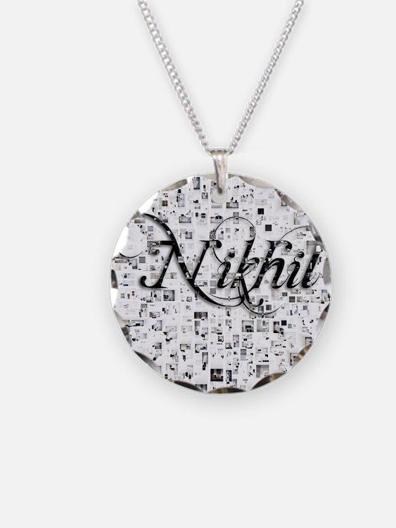 Nikhil, Matrix, Abstract Art Necklace