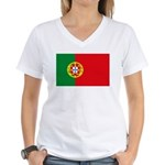 Portugal Flag, Portuguese Fla Women's V-Neck T-Shi