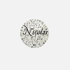 Nicolas, Matrix, Abstract Art Mini Button