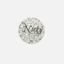 Nicky, Matrix, Abstract Art Mini Button