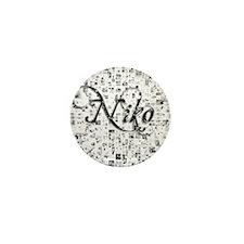 Niko, Matrix, Abstract Art Mini Button