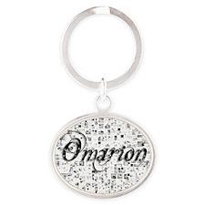 Omarion, Matrix, Abstract Art Oval Keychain
