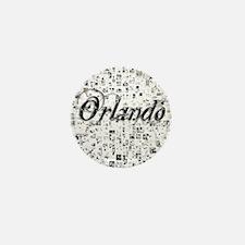 Orlando, Matrix, Abstract Art Mini Button