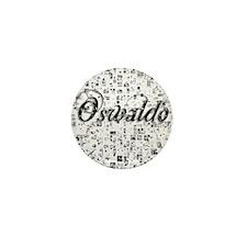 Oswaldo, Matrix, Abstract Art Mini Button