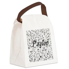 Payton, Matrix, Abstract Art Canvas Lunch Bag