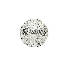 Quincy, Matrix, Abstract Art Mini Button