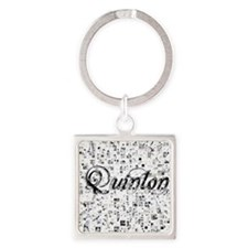 Quinton, Matrix, Abstract Art Square Keychain