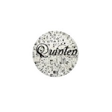 Quinten, Matrix, Abstract Art Mini Button