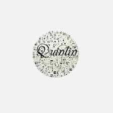 Quintin, Matrix, Abstract Art Mini Button