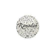 Ramadan, Matrix, Abstract Art Mini Button