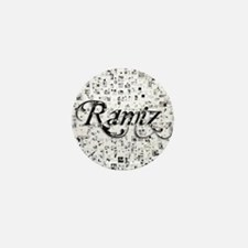 Ramiz, Matrix, Abstract Art Mini Button