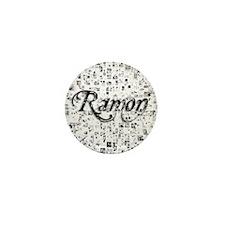 Ramon, Matrix, Abstract Art Mini Button