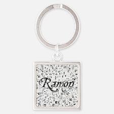 Ramon, Matrix, Abstract Art Square Keychain