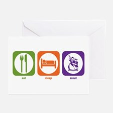 Eat Sleep Scout Greeting Cards (Pk of 10)