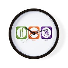 Eat Sleep Scout Wall Clock