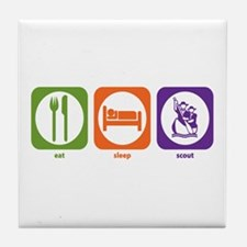 Eat Sleep Scout Tile Coaster