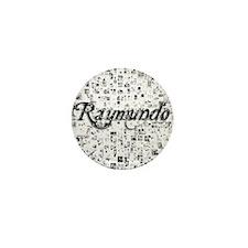 Raymundo, Matrix, Abstract Art Mini Button