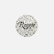 Reggie, Matrix, Abstract Art Mini Button