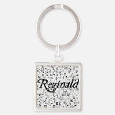 Reginald, Matrix, Abstract Art Square Keychain
