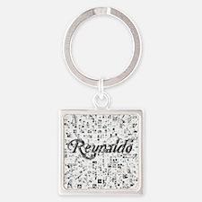 Reynaldo, Matrix, Abstract Art Square Keychain