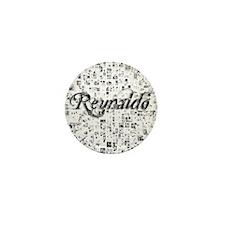 Reynaldo, Matrix, Abstract Art Mini Button