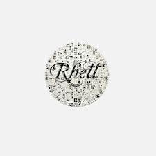 Rhett, Matrix, Abstract Art Mini Button