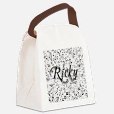 Ricky, Matrix, Abstract Art Canvas Lunch Bag