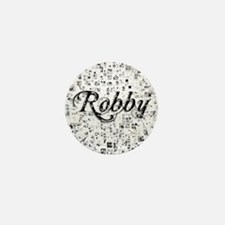 Robby, Matrix, Abstract Art Mini Button