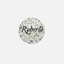 Roberto, Matrix, Abstract Art Mini Button