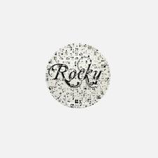 Rocky, Matrix, Abstract Art Mini Button