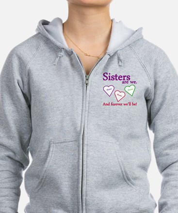 Sisters Are We Personalize Zip Hoody