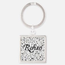 Rohan, Matrix, Abstract Art Square Keychain