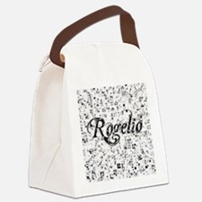 Rogelio, Matrix, Abstract Art Canvas Lunch Bag
