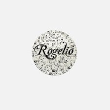 Rogelio, Matrix, Abstract Art Mini Button