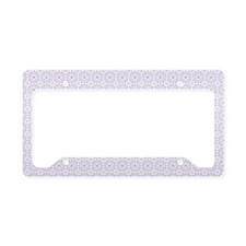 Amara Lilac pillow case License Plate Holder