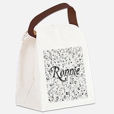 Ronnie, Matrix, Abstract Art Canvas Lunch Bag