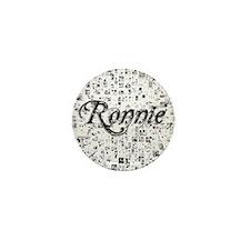 Ronnie, Matrix, Abstract Art Mini Button