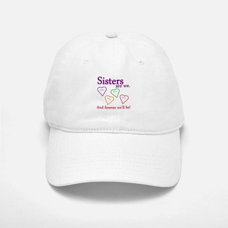 Sisters Are We Personalize Baseball Baseball Cap