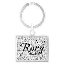Rory, Matrix, Abstract Art Landscape Keychain